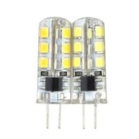 Wholesale Led Light G9 G4 W W W DC12V AC220V White Corn Bulb Silicone Lamps Crystal Chandelier Home Decoration Light