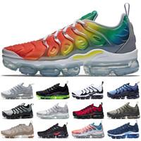 trem leve venda por atacado-Nike air Vapormax Frete grátis Mens sapatos woemen tênis TN Plus almofada branco azul luz menta tênis de corrida chaussures designer de treinamento de esporte formadores