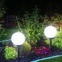 Wholesale power solar panels for sale - Group buy Led Solar Energy Powered Bulb Lamp cm Waterproof Outdoor Garden Street Solar Panel Ball Lights Lawn Yard Landscape Decorative Lighting