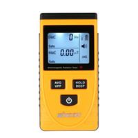 medidores de radiación electromagnética al por mayor-Calidad Digital Lcd Detector de Radiación Electromagnética Medidor Dosímetro Probador Contador Sensor de Radiación Electromagnética Incorporado T8190619