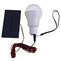 ampoules solaires d'intérieur achat en gros de-Lampe solaire à LED Système d'éclairage extérieur / intérieur à LED Lampe d'ampoule Panneau solaire Voyage de camp de faible puissance utilisé Éclairage de jardin 15W