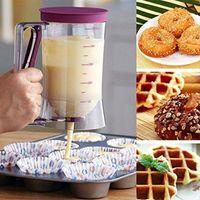 fırında krem toptan satış-Cupcakes Krep Çerez Kek Muffins Pişirme Gofretler Meyilli Dağıtıcı Krem Speratator Ölçüm Fincan pişirme araçları için kekler MMA1205