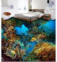 Painting Supplies & Wall Treatments 3d Flooring Coral Dreamy Jellyfish Tropical Fish 3d Floor Painting Waterproof Wallpaper For Bathroom Wall Wallpapers