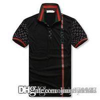 erkek düğmeler için tasarım gömlekler toptan satış-Erkek Tasarımcı T Gömlek Yeni adamın Kısa Kollu Yaka Gömlek Boyun T-shirt Yaz Nefes Düğme Kazak T-shirt Erkekler Patchwork Te Tops