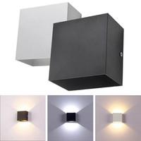 Wholesale ups rail for sale - Group buy 6W lampada LED Aluminium AC85 V wall light rail project Square LED wall lamp bedside room bedroom decor arts