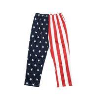 muchachos de la bandera al por mayor-Pantalón con estampado de niño pequeño Bandera americana Día nacional de la Independencia EE. UU. 4 de julio Verano Niño Color liso Estampado de vacaciones Impreso Pantalones de ocio