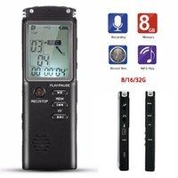 ingrosso prezzo mp3 giocatore digitale-Prezzo di fabbrica di registrazione 8G ricaricabile penna VAR / VOR Sistema audio digitale dittafono del registratore Telefono Lettore MP3