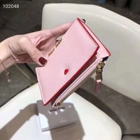 luxus rosa brieftasche großhandel-Rosa sugao Entwerfergeldbörsenfrauen Luxuxspitzenkuhgeldbörsenmappe des echten Leders hochwertige 2019 neue Artmünzengeldbeutel-Luxuxmappe
