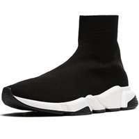 Wholesale man grey sock resale online - Sock Shoes Men Socks Speed Fashion Women Sneakers Triple Black White Runner Trainers Comfortable Light Casual Shoes