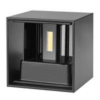 aluminium-würfel großhandel-Neue COB 7 Watt 12 Watt LED Aluminium Wandleuchten Einstellbarer Winkel Aufputz Outdoor Cube Lampe Led Innenwandleuchte Up Down Wandleuchten