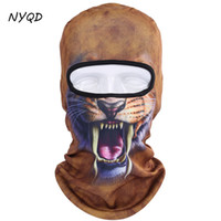 Wholesale masks personalities resale online - 3D Animal Cat Bicycle Motorcycle Breathable mask Windproof Snowboard Party Halloween Full Face Mask Winter Warmer personality
