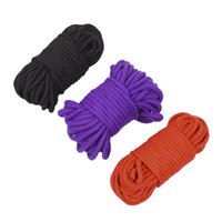 Wholesale rope restraints games for sale - Group buy Adult game sex toys black red meters long thick cotton obsessive restraint rope slave body BDSM products