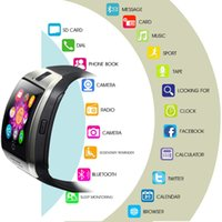 Wholesale smart watch sync android phone for sale – best Smart Watch MEN WOMEN Q18 With Camera Bluetooth WristWatch Support SIM TF Card Sync SMS Smartwatch For Ios Android Phones PK A1