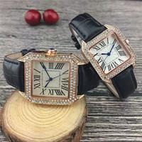relojes de belleza al por mayor-2019 Lujo Limited Fashion Design marca Señoras Belleza Relojes de cuarzo Negocio informal Cristal Diamante Hombres Mujeres Rhinestone Reloj freeship