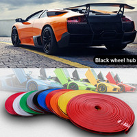 Wholesale 8M Car Wheel Hub Rim Edge Protector Ring Tire Strip Guard Rubber Sticker Decals