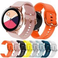 equipo activo al por mayor-20mm Sports Silicone Band para Samsung Galaxy Watch active 42MM Gear 2 Sport Correa para Huami Amazfit Bip / Amazfit 2 reloj inteligente