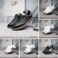 buenas marcas de zapatos de cuero al por mayor-Buena calidad Samba entrenadores para hombre Zapatos casuales diseñador de moda Marca de cuero gacela og Negro blanco Rosa Hombres Hombres Zapatillas deportivas para mujer
