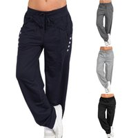 плюс размер женщины спортивная одежда оптовых-Plus Size S-5XL Women Casual Loose Running Pants Sports Workout Trousers Joggers Pants Sportswear Fitness Drawstring Trousers