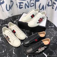 boncuk tırnak modası toptan satış-2019 ilkbahar yaz üst satış çift ayakkabı klasik çizgili yılan desen tırnak boncuk rahat moda yüksek kaliteli ayakkabı boyutu 35-45