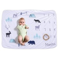 теплое полярное флисовое одеяло оптовых-Baby Swaddle Boy Blankets Mouthly Memory Wrap for Newborn Toddler Winter Super Warm Bath Polar Fleece Soft Gauze Infant Cover