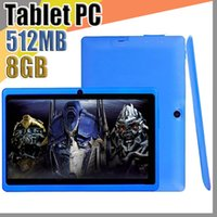 Wholesale bluetooth tablet pc touch resale online - JT Cheap inch Q88 Dual camera A33 Quad Core Tablet PC Android OS Wifi GB M RAM Multi Touch Capacitive Bluetooth Tablet A PB