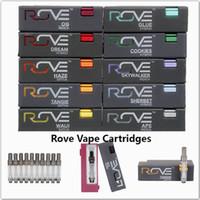 Wholesale sale pens online - Hot sale Rove Vape Cartridges Pyrex Glass Vape Pen ml Ceramic Coil Cart Flavors For Option Kingpen Smart Carts