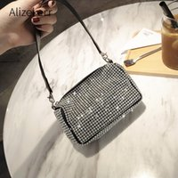 Wholesale bling cell phone purse for sale – best Bling Diamonds Evening Clutch Bag Women New Korean Soft Pillow Small Tote Handbag Shoulder bags Ladies Dinner Party Clutch Purse