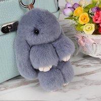 linda mochila de conejo al por mayor-2019 nuevo conejo lindo colgante de felpa perezoso piel del conejo de conejo joyas lindo juguetes de peluche llavero mochila adornos