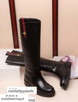 Wholesale little pump resale online - brang Little bee embossed leather boots V390 Women Boot Riding Rain BOOTS BOOTIES SNEAKERS High heels Lolita PUMPS Dress Shoes