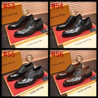 Wholesale double buckle shoes mens resale online - 20FW Designers Large Size Men Loafers Classic Business Dress Shoe Fashion Retro Double Buckle Straps Men Shoes Mens Leather Men Flats
