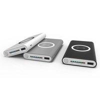ingrosso iphone più banca di potere-Qi ricarica wireless 10000 mAh PowerBank portatile USB Power Bank pad di ricarica wireless per iPhone X 8 Plus Samsung Note 8 S8