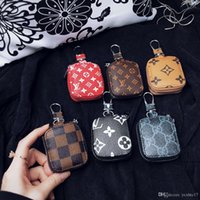 Wholesale zipper clasps resale online - For Apple Airpods Case Cover Luxury Earphones Zipper storage bag Hook Clasp Anti Lost Fashion Headphone Cases Protector Brand Casess Shell