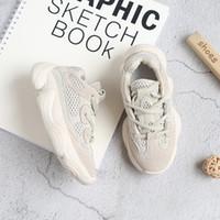 kız bej ayakkabıları toptan satış-Çocuklar ayakkabı erkek çocuklar için 500 koşu sneakers çocuk kız erkek bej toddler ayakkabı boyutu 6.5-14