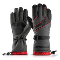 Wholesale windstopper gloves warm resale online - Waterproof Winter Warm Gloves Men Ski Gloves Snowboard Motorcycle Riding Winter Fleece Snow Windstopper Glove