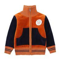 erkek çocuk ceket toptan satış-Çocuk Dış Giyim Bebek Erkek Beyzbol Ceket Kaban Erkek Polar Ceket Çocuklar Kadife Sıcak Beyzbol Üniforma Rahat Spor Kazak
