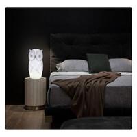 baykuş oda dekoru toptan satış-1 W LED Gece Lambası Bebek Baykuş Şekli Beyaz Sıcak beyaz Işık PVC Masa Lambası Çocuk Odası Parti Dekor için Kapalı Dekoratif Nightlight