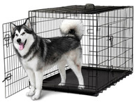 Wholesale pet playpens for sale - 48 Doors Wire Folding Pet Crate Dog Cat Cage Suitcase Kennel Playpen w Tray