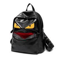 serin okul çantaları erkek toptan satış-Ünlü Tasarımcı Seyahat Sırt Çantası Rahat Öğrenci Okul Çantaları Gençler Yüksek Kalite Moster Serin çift Omuz Çantaları Kadın Erkek