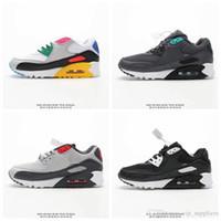 Großhandel Nike Air Max 90 Top Fashion Mens Schwarz Weiß Rosa Gelb 90 Laufschuhe Heißer Verkauf Luxus 90s Frauen Turnschuhe Joggen Zapatos Schuhe
