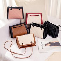 Wholesale pink sling bag resale online - Bag Women s New Style WOMEN S Fashion Handbag Crossbody Bag Quilted Retro Square Sling