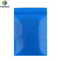 Wholesale plastic bag packaging quality seal resale online - 7x10cm x4in high quality PE Three Side Seal zip lock Pouch Flat small blue plastic packaging bags for gift jewelry
