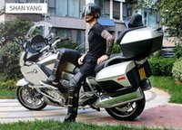 e moto moto al por mayor-Motocicleta PU Rodilla y pierna Protector caliente rodilleras motocross Scooter E-bike