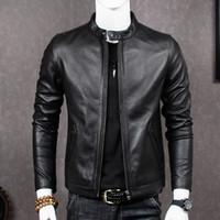 lederjacke schaffell großhandel-2019 echtes Leder Jacke Männer Schaffell Mantel für Männer Plus Size Echt Kuh Leder Jacken Chaqueta Cuero Hombre MT681 KJ2283
