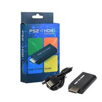 Wholesale ps2 adapters for sale - blue than New PS2 to HDMI with mm audio video Converter connector adapter for HDTV support i i p with HDMI cable