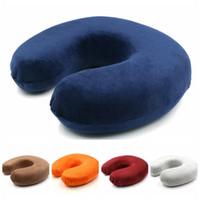 almofada multifunções venda por atacado-U-Shaped Viagem Pillow Car portátil pescoço Rest multifuncionais memória espuma almofadas recuperação lenta 14 cores HHA871