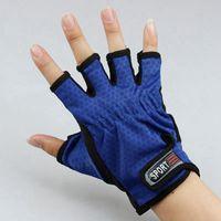 Wholesale cut glove fingers for sale - Group buy Half Finger Design Fishing Gloves Durable Anti Slip Anti Cut Sport Outdoor Fishing Gloves Breathable Wear resistant Fishing Gloves LJJZ539