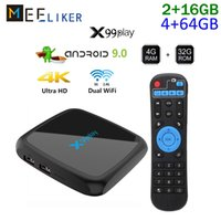 Wholesale tv box 8gb ram for sale - Group buy 4gb ram arabic iptv box G G rom Android RK3318 dual wifi smart tv box media player G G X99 play