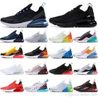 hava çorapları toptan satış-Nike air max 270 Çorap ile 2019 hava Yastığı Sneaker kahverengi Volt Turuncu BARELY ROSE stars Lacivert Üçlü Siyah nefes koşu Ayakkabıları mens eğitmenler