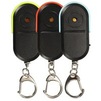 ingrosso cercatore del suono del keychain-Allarme anti-perso senza fili GPS Key Finder Locator Keychain Whistle Sound LED Light