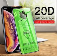 protetor de tela de óculos temperados s5 venda por atacado-20d borda curva cobertura completa filme protetor de tela temperado para iphone x xr xs max 7 8 6 plus samsung m30 m20 a30 a70 a70 a8 j4 j6 mais 2018